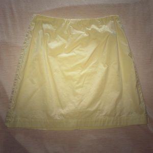 Cotton gap mini skirt