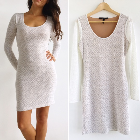 Bcbg tanya lace dress white