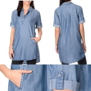 Chelsea & Theodore Tops - Chelsea & Theodore Ombre Chambray Shirt Dress