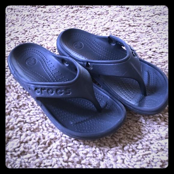 f8afaa0d5360e7 CROCS Other - Boy Girl Black Crocs Flip Flops- super durable!