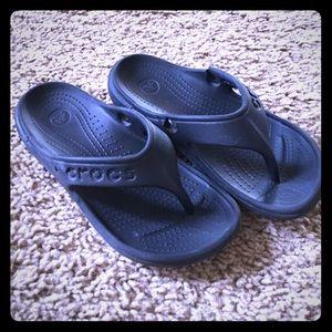 CROCS Other - Boy/Girl Black Crocs Flip Flops- super durable!