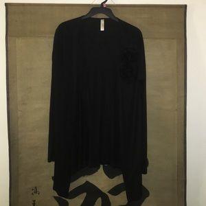 Sweaters - Black Thin Long Sleeve Cardigan