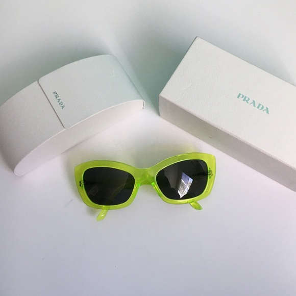 ff5fa01b5331 Prada Postcard Collection lime green sunglasses.  M 57cde5432599fec0bf012b34. Other Accessories ...
