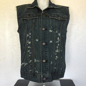 GAP Other - GAP distressed jean jacket denim vest NWOT classic
