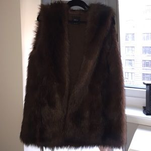 Zara Jackets & Blazers - Zara Brown Fur Vest