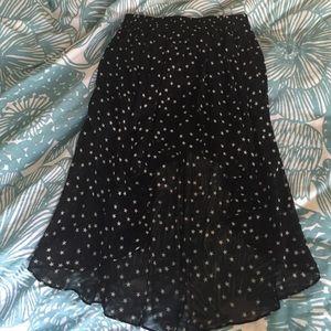 Zara star high low skirt