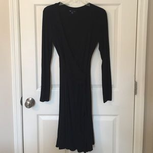 Gap - Black Knit Long Sleeve Dress - Size S