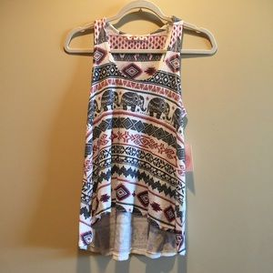 Gaze Tops - Brand new with tags elephant tank top.