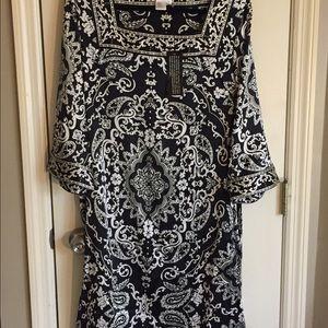 Silk Damask Print Dress NWT 20% off bundles