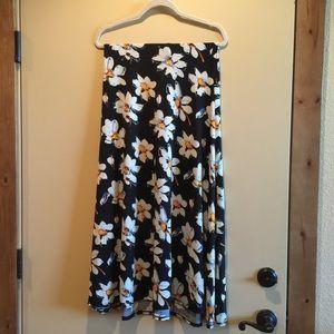 LuLaRoe Dresses & Skirts - LuLaRoe fold over maxi skirt. Floral.