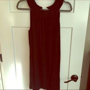 Aqua black dress with high neck. Size medium