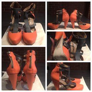 Kathryn Amberleigh Shoes - Kathryn Amberleigh two tone platform heel