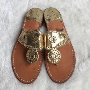 Jack Rogers Shoes - Jack Rogers Gold Sandals Size 6