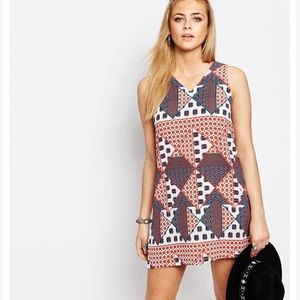 Boohoo print shift dress