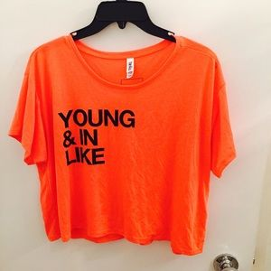 Tops - Young and in Like crop top