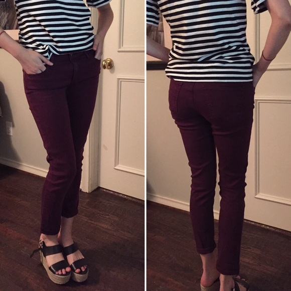 Anthropologie - AG Stevie Ankle Wine Colored Jeans from Frances's ...