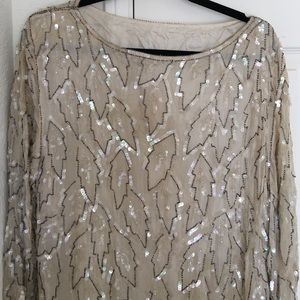 Vintage Ivory m Sequin Dress