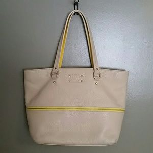 Authentic Kate Spade tan and yellow purse
