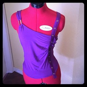 Que Tops - Purple Punk Tank Top