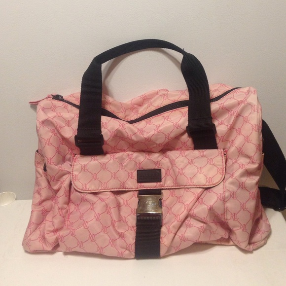c3df8df3de Lauren Ralph Lauren Handbags - Pink Monogrammed Duffle Gym Overnight Bag