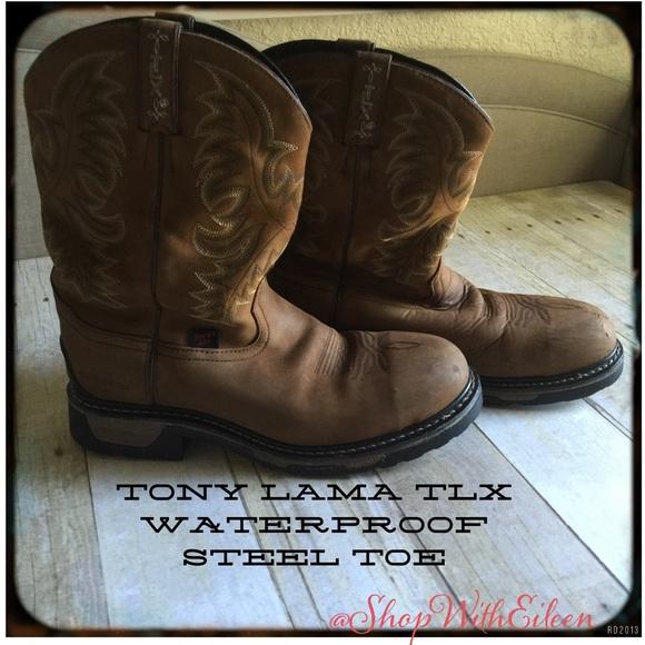 tony lama tlx steel toe boots