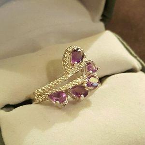 Jewelry - NWOT- Amethyst +Diamond ring