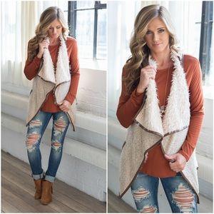 Jackets & Blazers - Faux shearling vest