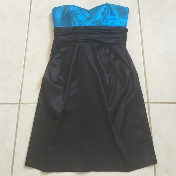 Blue Top Black Bottom Dresses