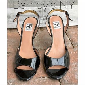 Barneys New York CO-OP Shoes - Barney's NY patent sling back heeled stiletto