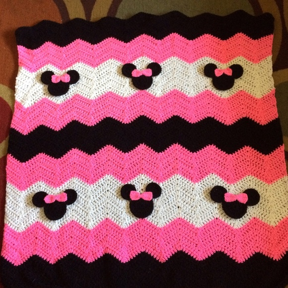 Bedding Crochet Baby Blanket Minnie Mouse Poshmark