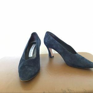 Vintage blue suede heels