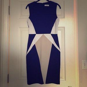 Calvin Klein Color Block Dress / Black & White