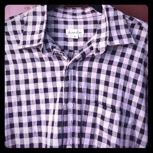 Steven Alan Tops - Steven Alan grey checked shirt