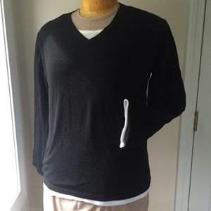 2 layer pullover sweater fine gauge knit