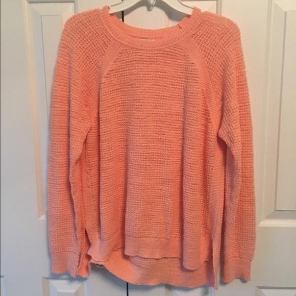 83% off J. Crew Factory Sweaters - J.Crew Factory Light Orange ...
