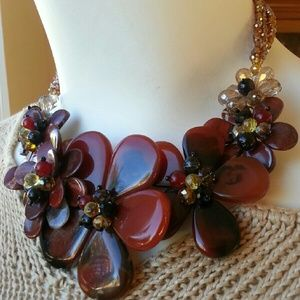Handmade  Jewelry - Handcrafted Stone Statement Necklace