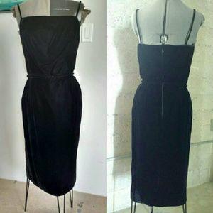 Vintage velvet wiggle dress 1960s