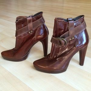 Antik Denim Shoes - Brand new reddish brown high heel booties