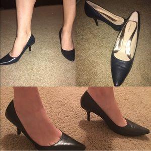 Size 7 Calvin Klein navy pointed toe heels