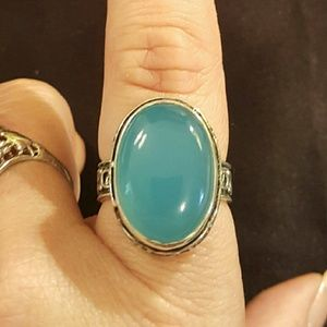 Jewelry - NWOT- Blue Chalcedony ring