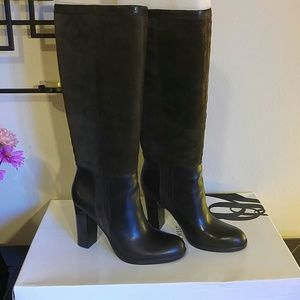 New with box nine west leather and suede boots