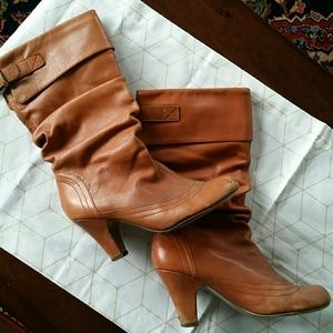 Cute leather booties