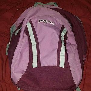 Jansport Handbags - New Purple and Grey Jansport Backpack