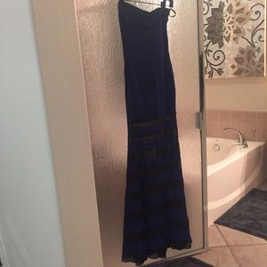 Strapless BeBe Maxi Dress