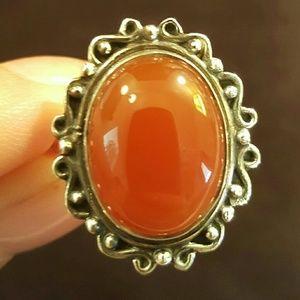 Jewelry - SOLD!!!! -Carnelian ring, set in SS.925