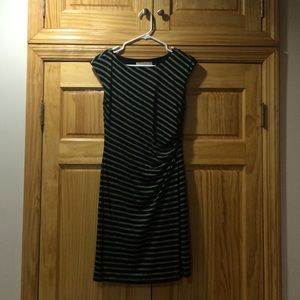 Black Striped LOFT Dress