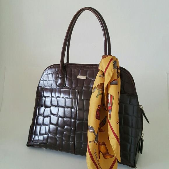 ... oroton bags for women style australia oroton bags brown crocodile print  handbag poshmark ... ... oroton black leather ... 2495d5f4ef