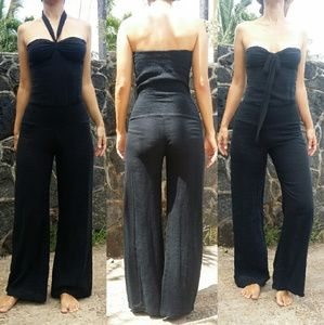 Indah black jumpsuit long romper play jump suit XS