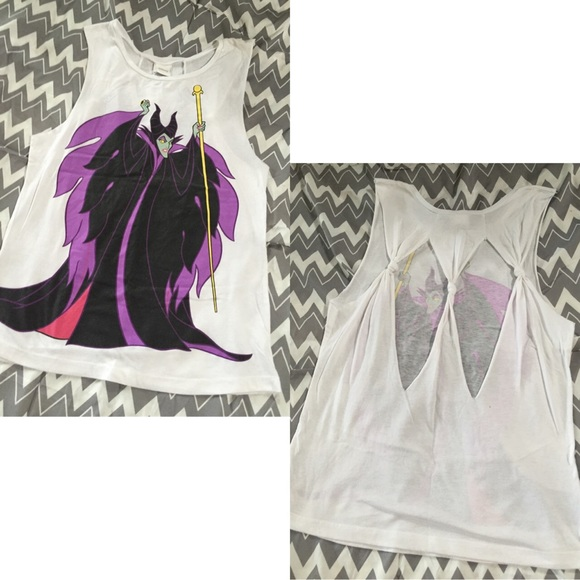 85f39fcf Disney Tops | Wet Seal Maleficent Muscle Tank With Cutout Back ...