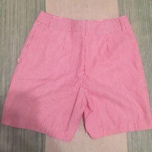 J. McLaughlin Pants - J. Mclaughlin seersucker Bermuda shorts size 2